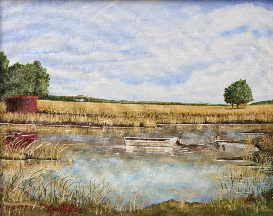 A Day At The Lake Painting  - A Day At The Lake Fine Art Print