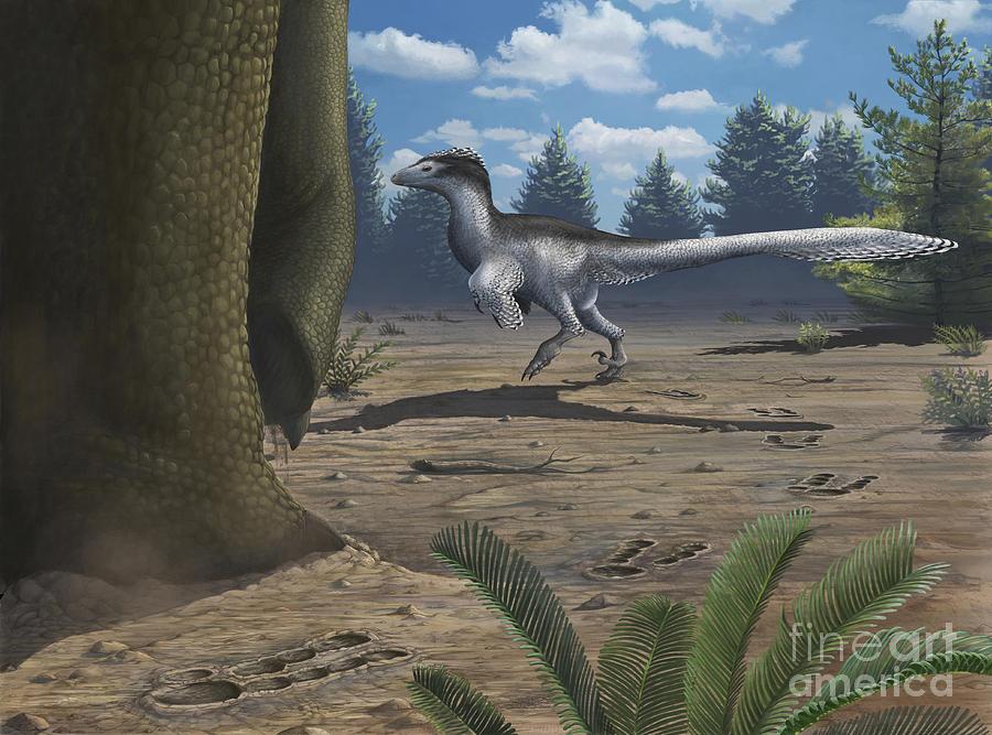 A Deinonychosaur Leaves Tracks Digital Art