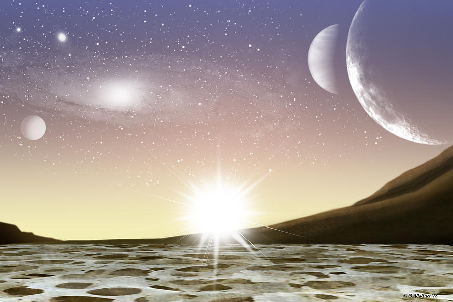 A Distant World Digital Art  - A Distant World Fine Art Print