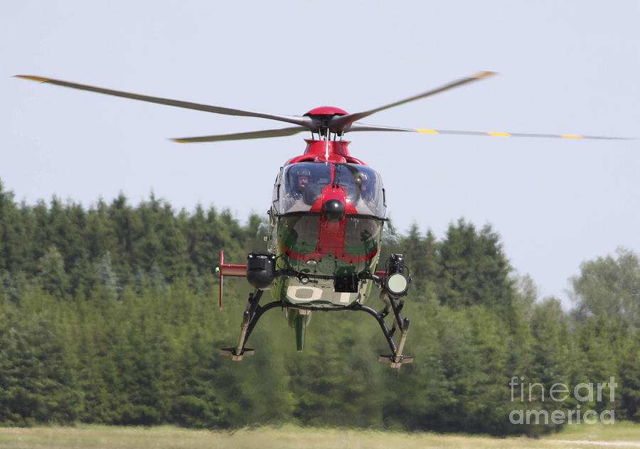 A Eurocopter Ec135 Used By German Photograph  - A Eurocopter Ec135 Used By German Fine Art Print