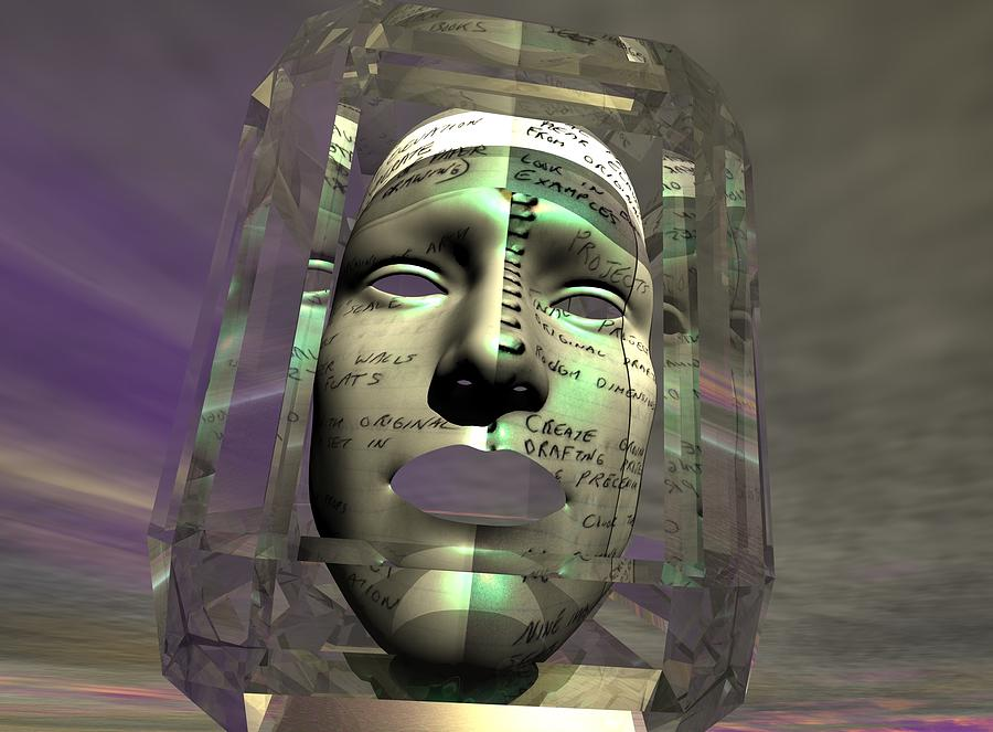 A Face Full Of Nerve Damage In Platos Sun Of Forms Digital Art