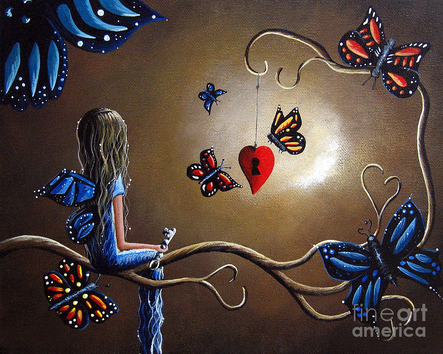 A Fairys Heart Has Many Secrets Painting