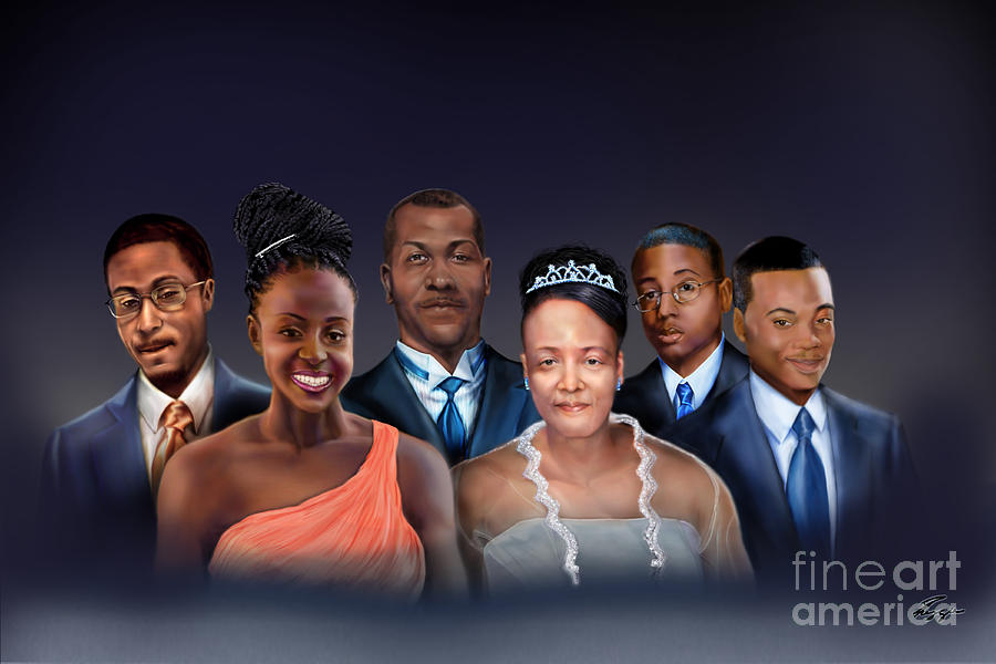 Commission Painting - A Family Portrait by Reggie Duffie