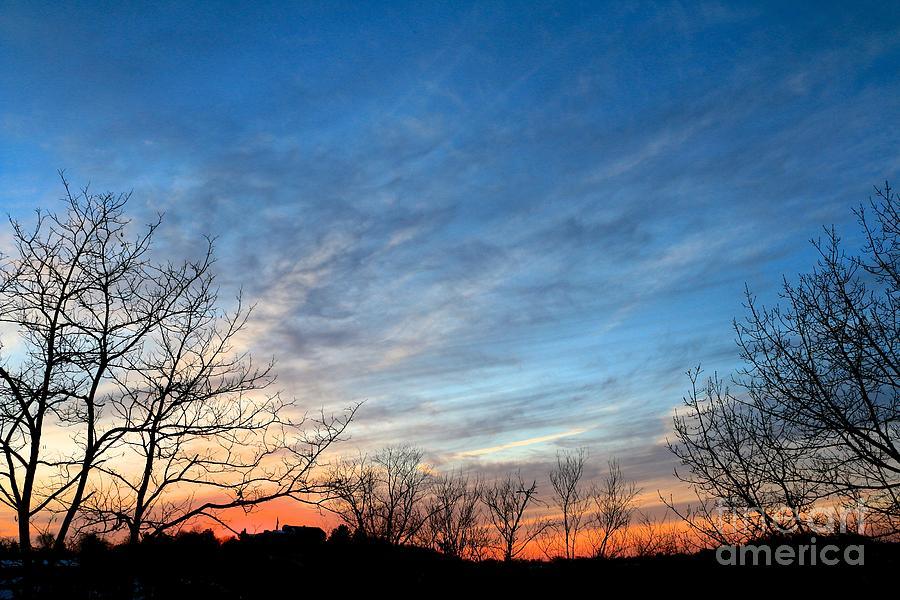 A February Sunset Photograph