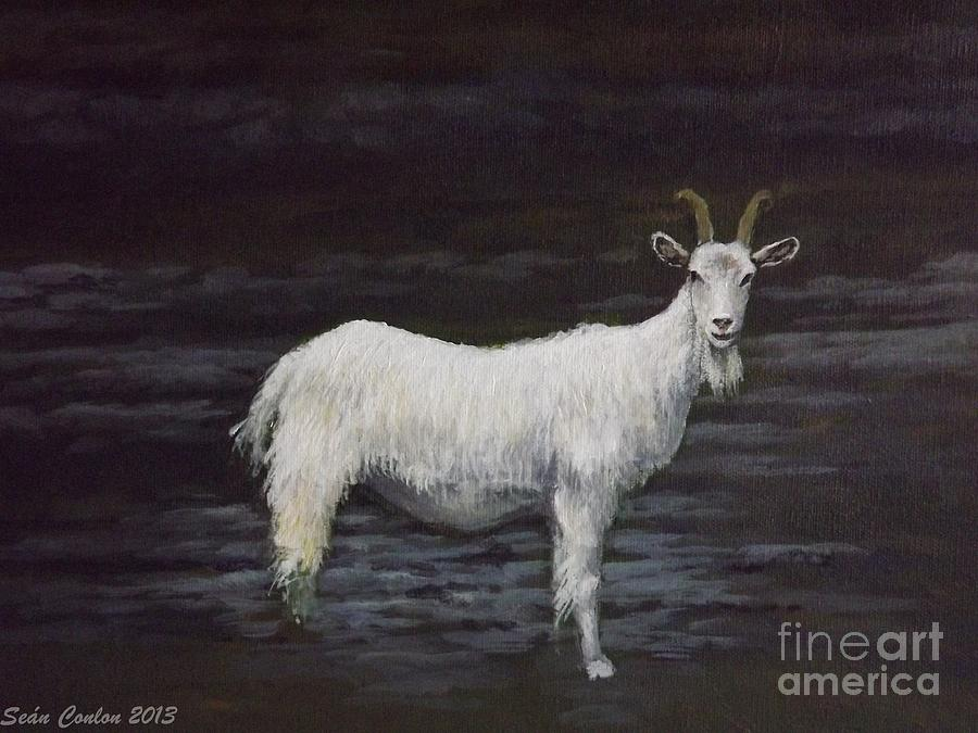 A Feral Goat On The Burren Painting