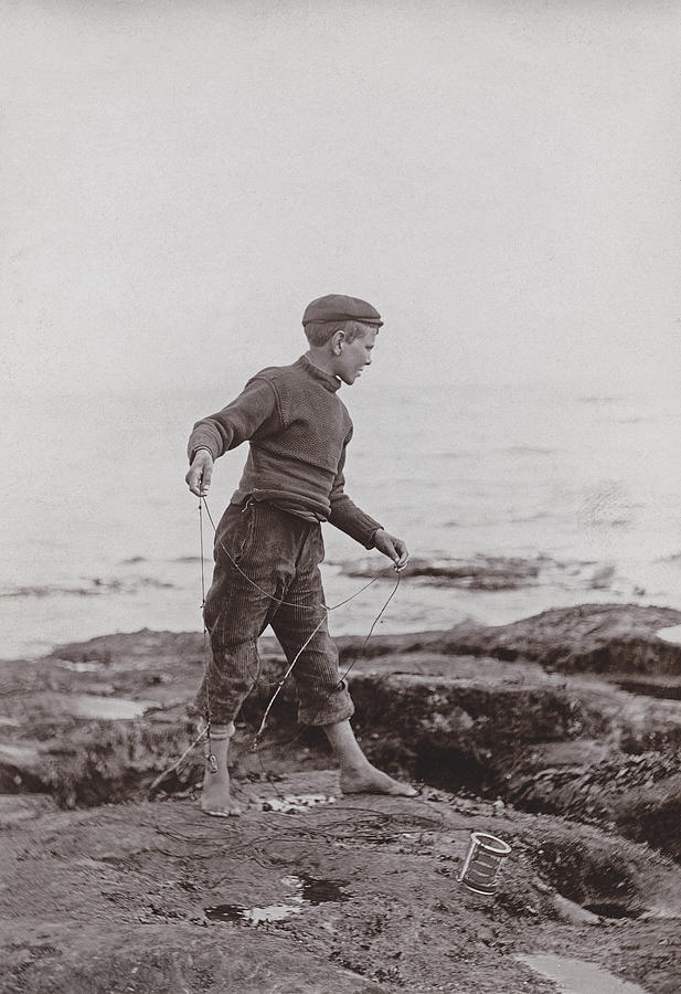 Boy Photograph - A Fisher Laddie by James Patrck