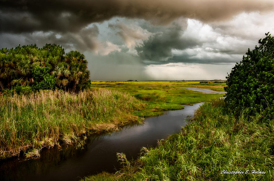 A Glow On The Marsh Photograph