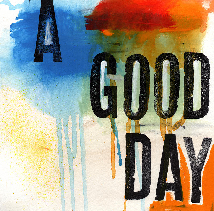 A Good Day- Abstract Painting  Mixed Media