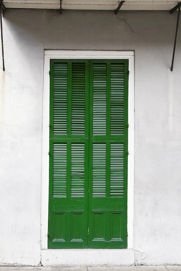 A Green Door In New Orleans Photograph