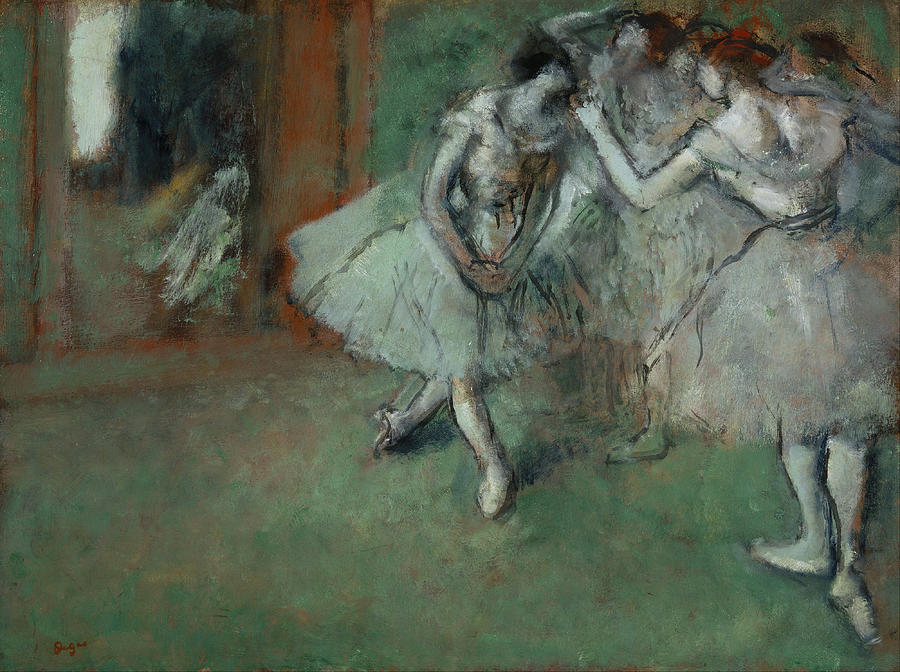 Degas Painting - A Group Of Dancers by Edgar Degas