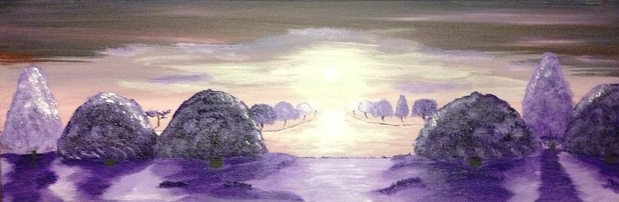 A Haze Of Purple Painting