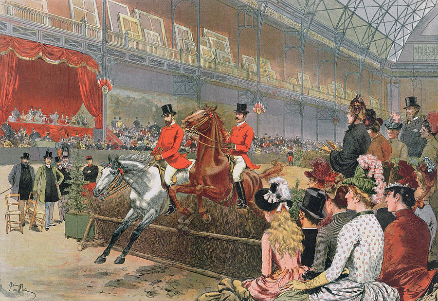 A Horse Race Painting