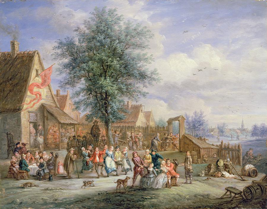A Kermesse On St. Georges Day Painting