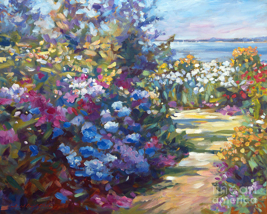 Gardens Painting - A Lazy Summer Day by David Lloyd Glover