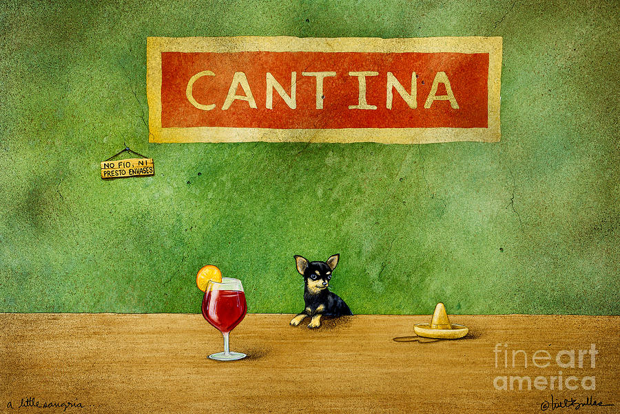 a little Sangria... Painting  - a little Sangria... Fine Art Print