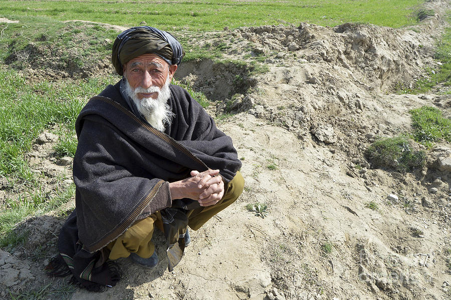 A Local Afghan Man Near A Village Photograph