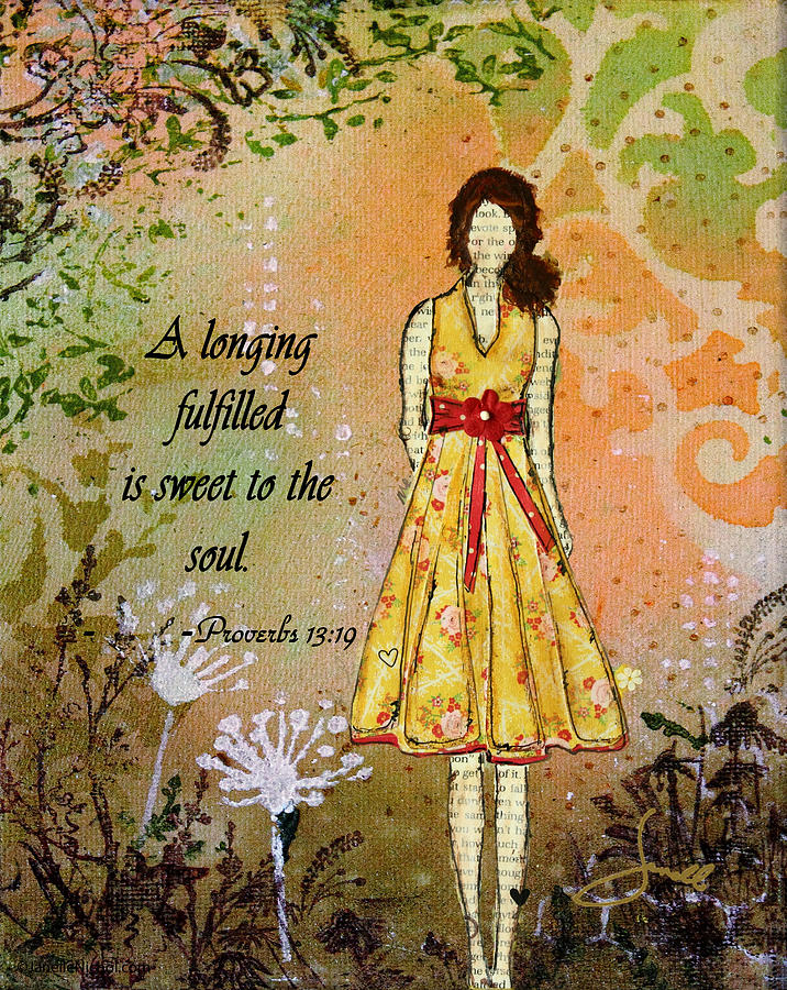 A Longing Fulfilled Mixed Media  - A Longing Fulfilled Fine Art Print