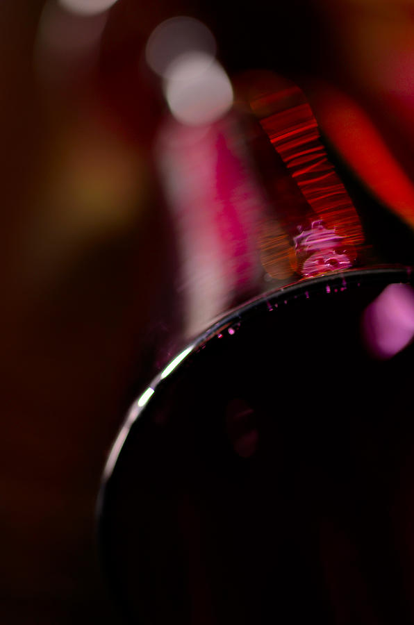 A Lying Wine Glass Photograph  - A Lying Wine Glass Fine Art Print