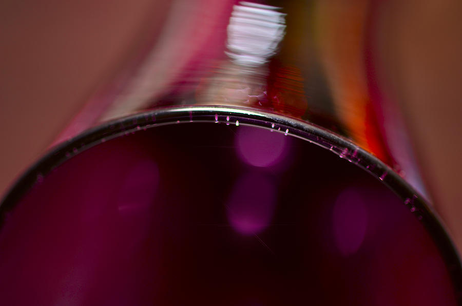 A Lying Wineglass Photograph  - A Lying Wineglass Fine Art Print