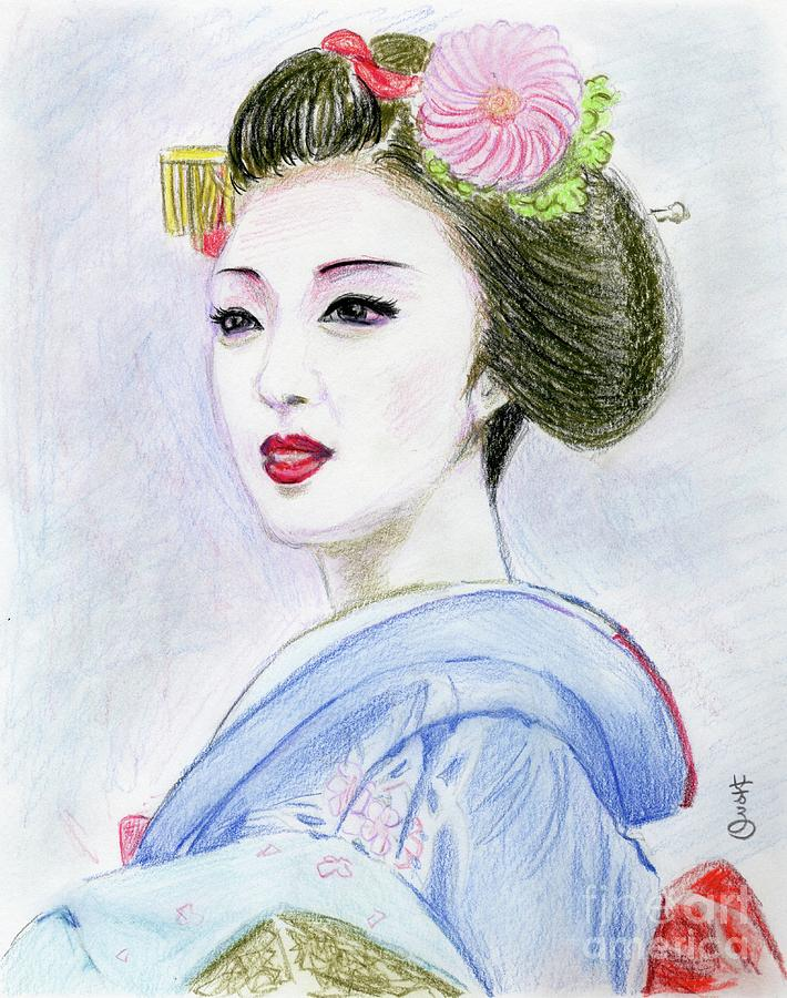 Maiko Girl is a drawing by Yoshiko Mishina which was uploaded on ...