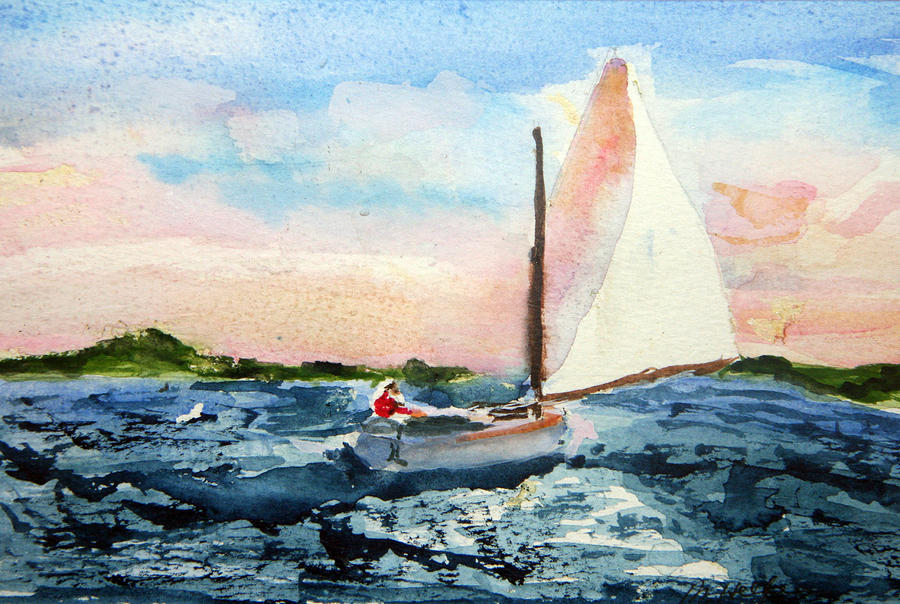 A Man And His Boat Painting  - A Man And His Boat Fine Art Print