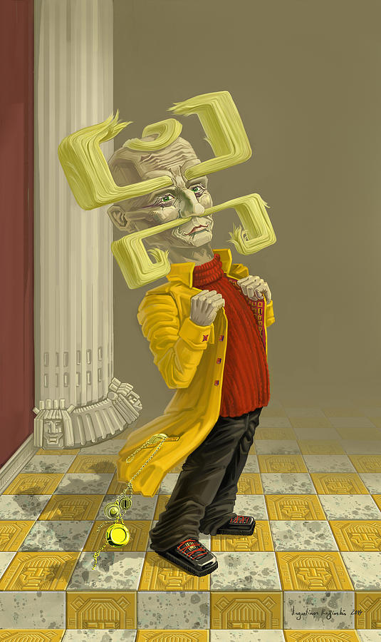 Digital Digital Art - A Man Of Style by Augustinas Raginskis