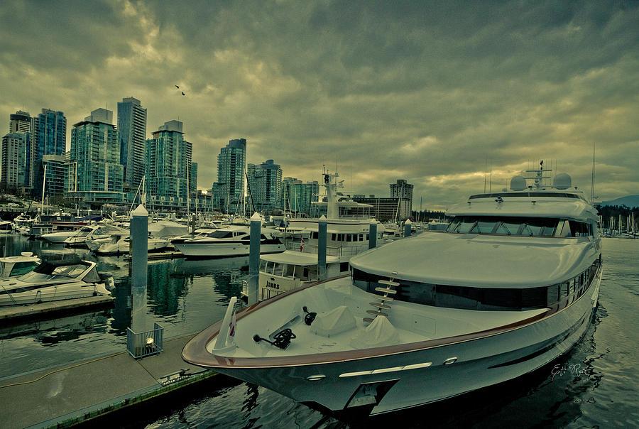Coal Harbour Photograph - A Million Dollar Ride Yacht  by Eti Reid