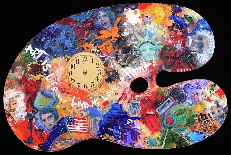 A Minds Eye Painting - A Minds Eye Palette by Trish Bilich