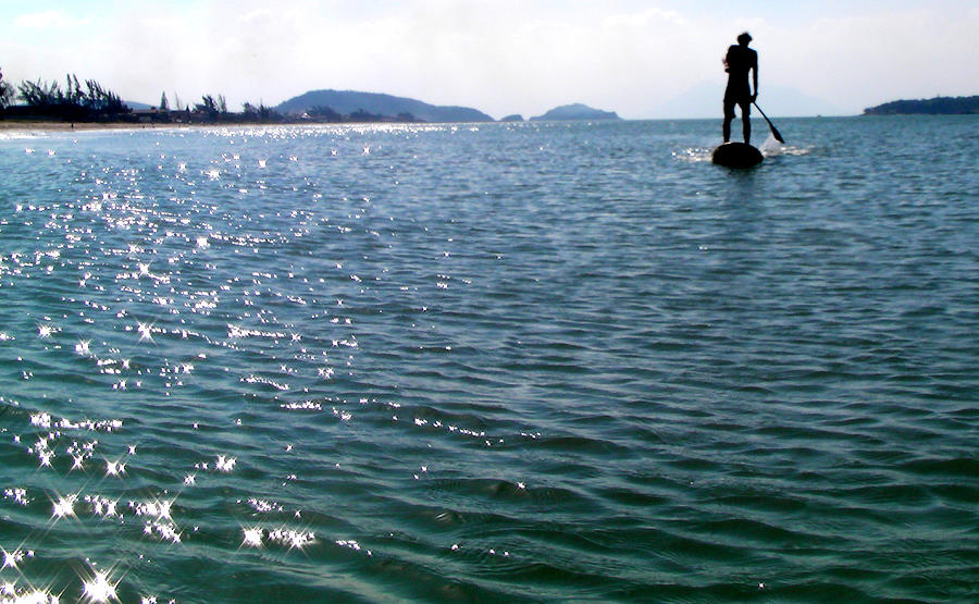 Sup Photograph - A Moment Of Enjoy Sup #1 by Chikako Hashimoto Lichnowsky