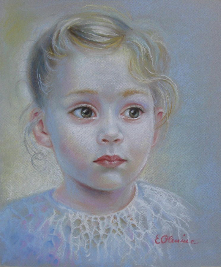 Portrait Painting - A Moment Of Reverie by Elena Oleniuc