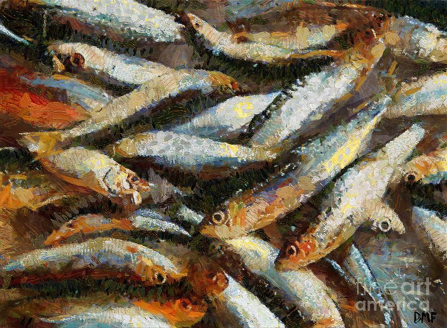 A Morning Catch Of Sardines Painting