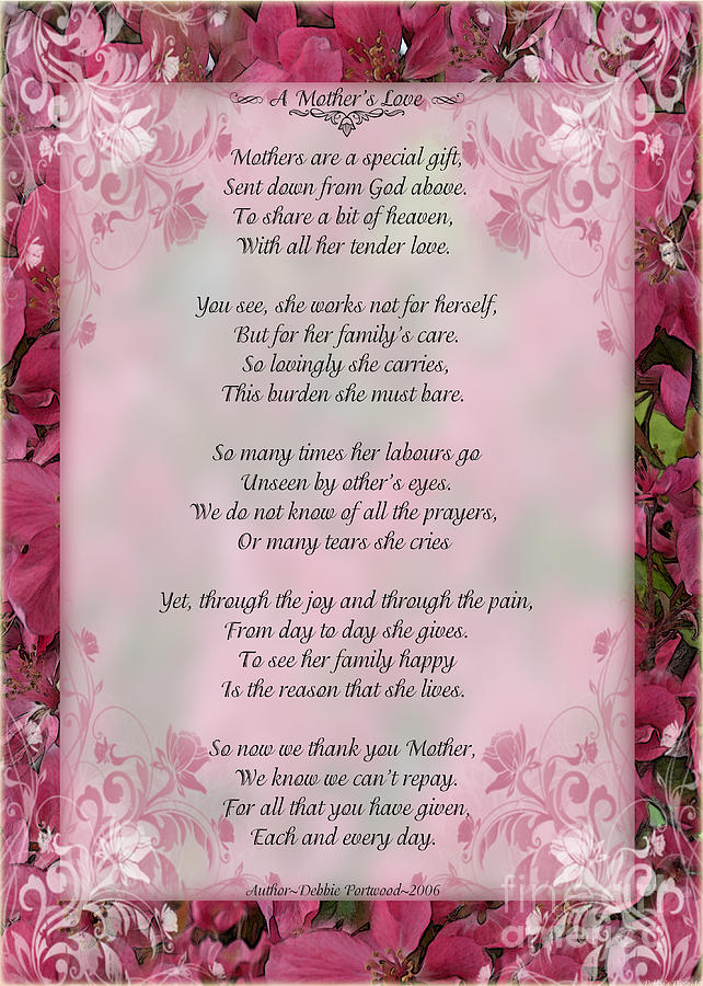 Related Pictures christian poem for mother s day