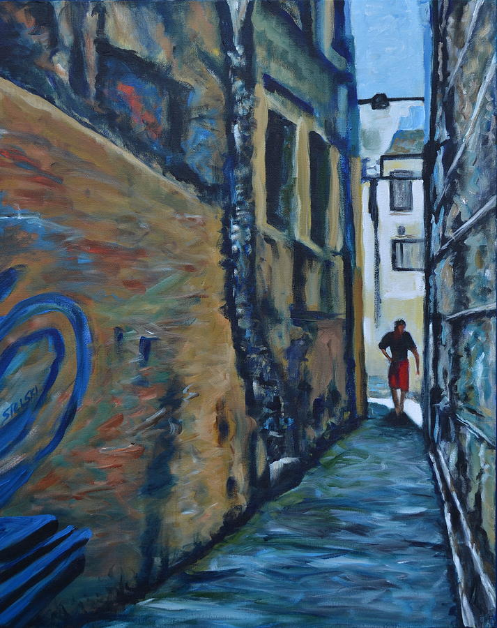 Italy Painting - A Narrow Way by George Sielski