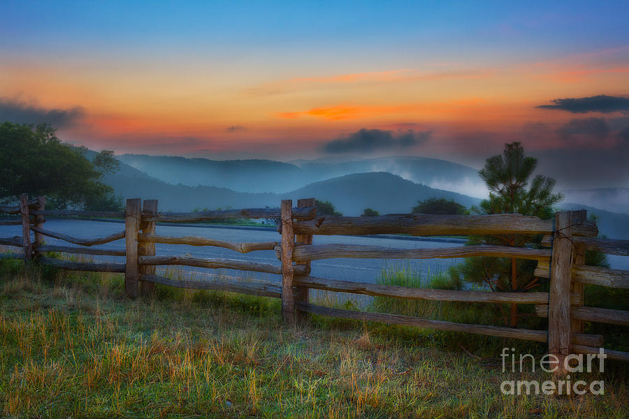 A New Beginning - Blue Ridge Parkway Sunrise I Painting  - A New Beginning - Blue Ridge Parkway Sunrise I Fine Art Print