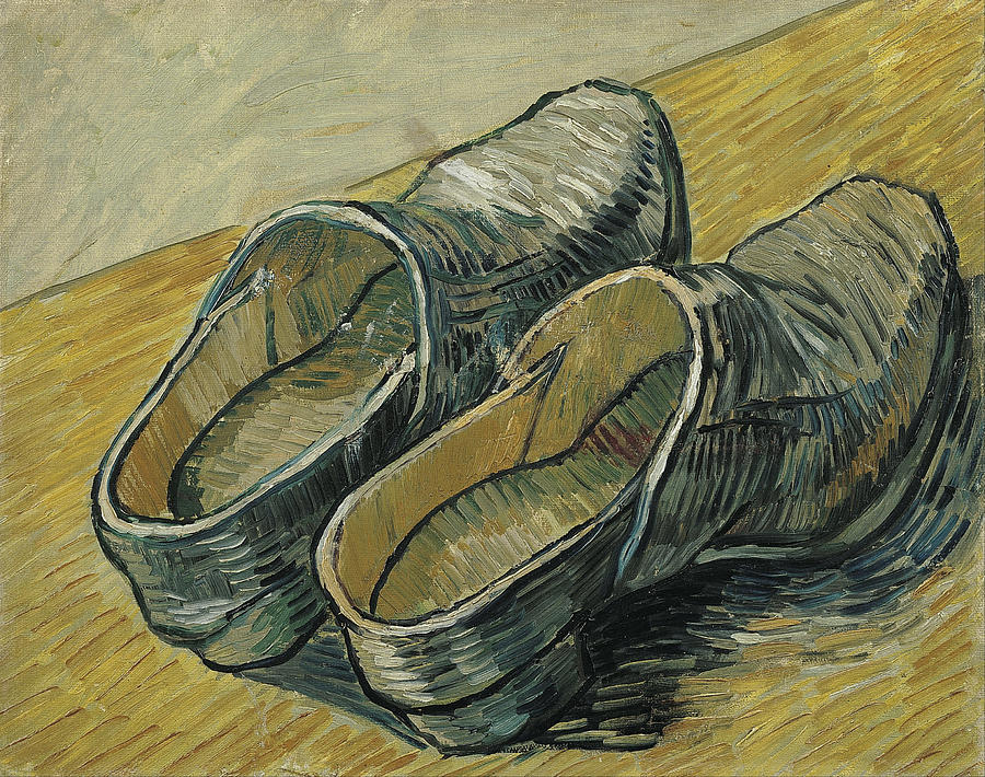 a pair of leather clogs painting by vincent van gogh. Black Bedroom Furniture Sets. Home Design Ideas