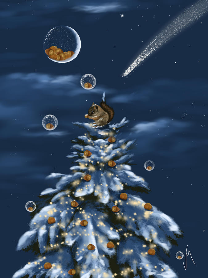 Christmas Digital Art - A Perfect Present by Veronica Minozzi