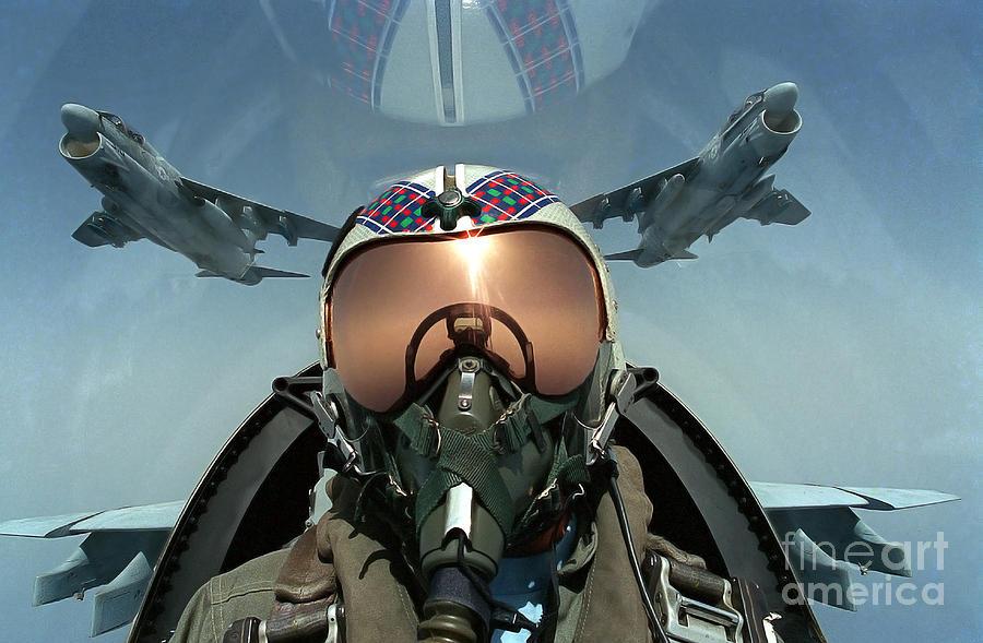 A Pilot Takes A Self Portrait Photograph