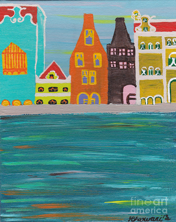 Curacao  Painting - A Pink View by Melissa Vijay Bharwani