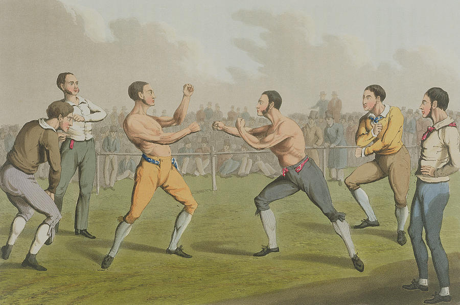 A Prize Fight Aquatinted By I Clark Painting