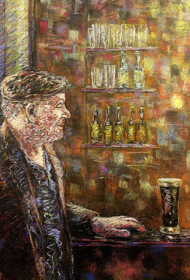 Pastel Pastel - A Quiet Guinness by John  Nolan
