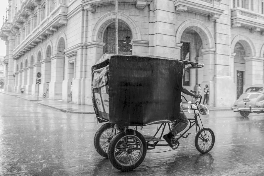A Rainy Day In Havana Photograph