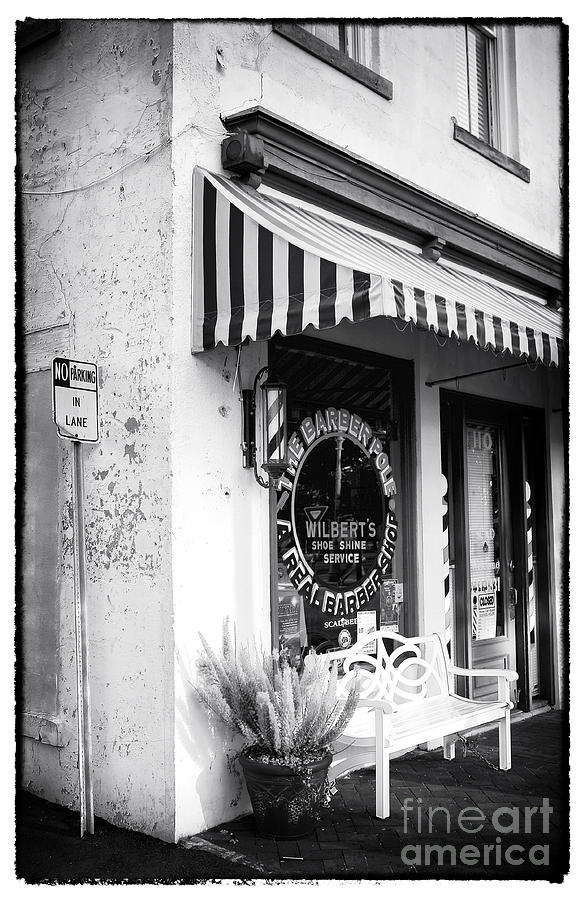 A Real Barber Shop Photograph  - A Real Barber Shop Fine Art Print