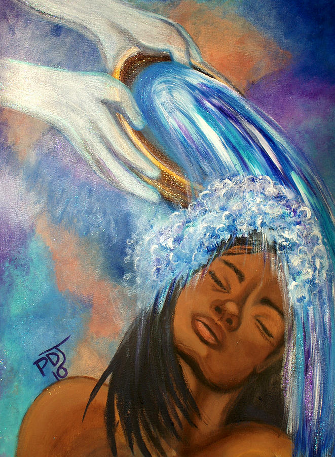 Spirit Painting - A Refreshing by Pamorama Jones