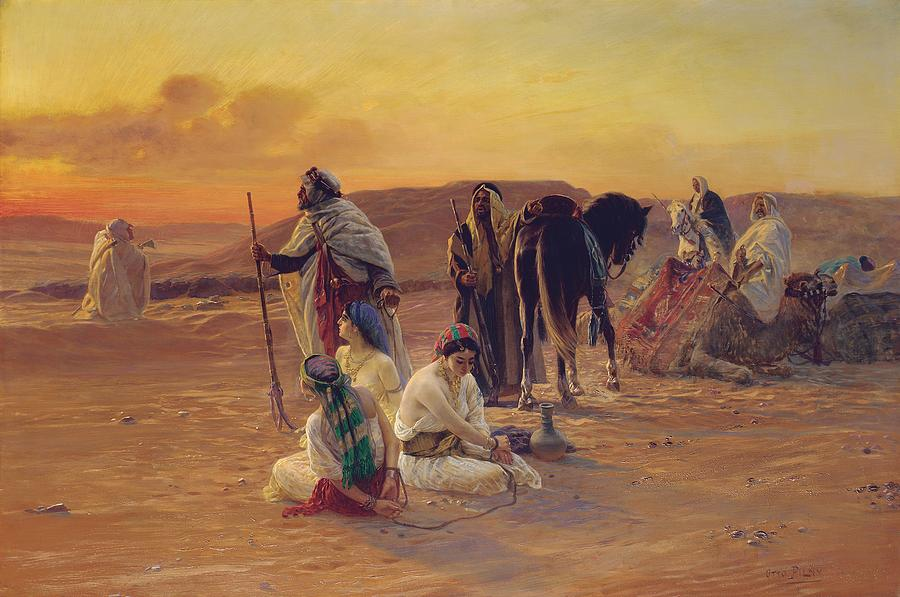 A Rest In The Desert Painting