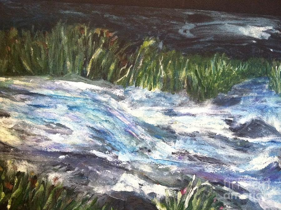 Orchards Painting - A River Runs Through by Sherry Harradence