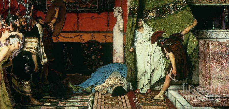 A Roman Emperor Painting - A Roman Emperor   Claudius by Sir Lawrence Alma Tadema