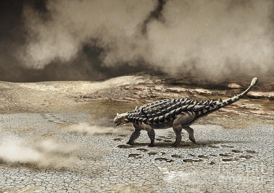 A Saichania Chulsanensis Dinosaur Digital Art