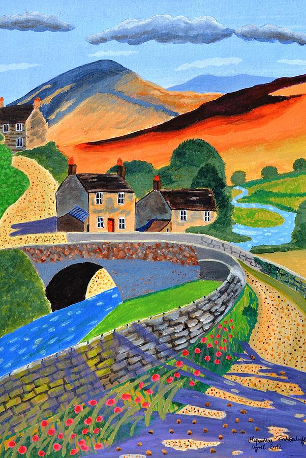 a Scottish highland lane Painting