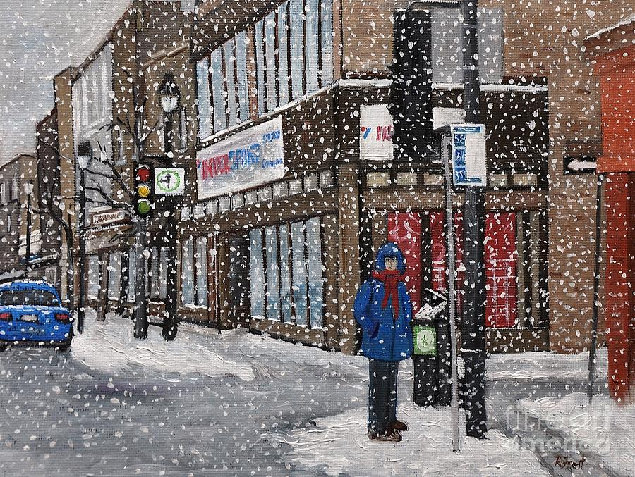A Snowy Day On Wellington Painting