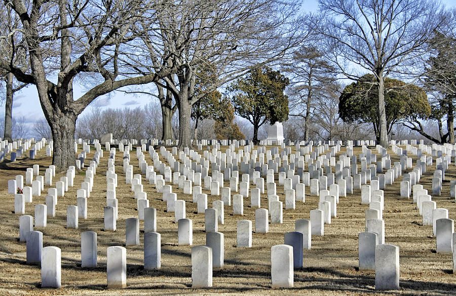 National Cemetery Photograph - A Sobering Scene by Jason Politte